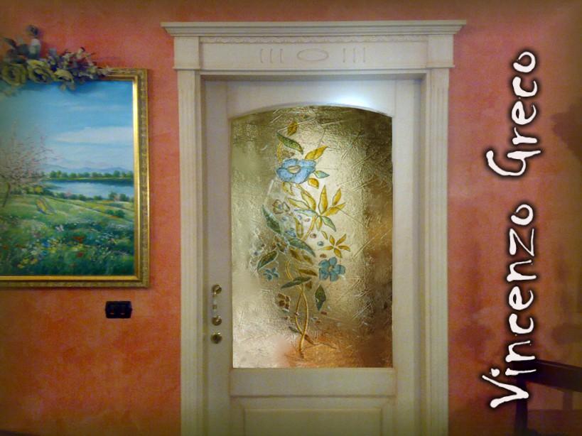Vetrofusioni artistiche e di design su misura per porte - Pannelli decorativi per porte ...